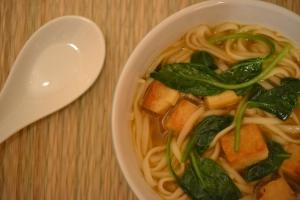 Spinach Udon Noodle Soup